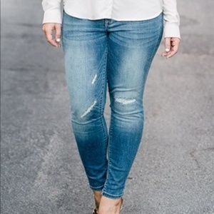 Mossimo Mid Rise Distressed Jeggings